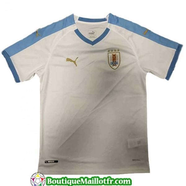 Maillot Uruguay 2019 2020 Exterieur Blanc