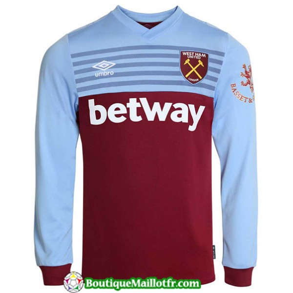 Maillot West Ham United 2019 2020 Domicile Manche ...