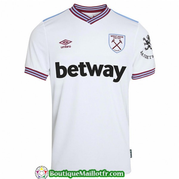 Maillot West Ham United 2019 2020 Exterieur