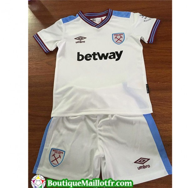 Maillot West Ham United Enfant 2019 2020 Exterieur