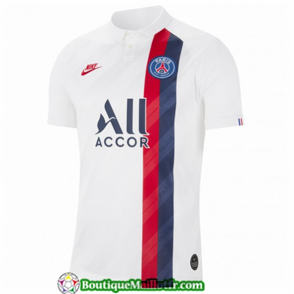 Maillot Paris Saint Germain 2019 2020 Third Blanc