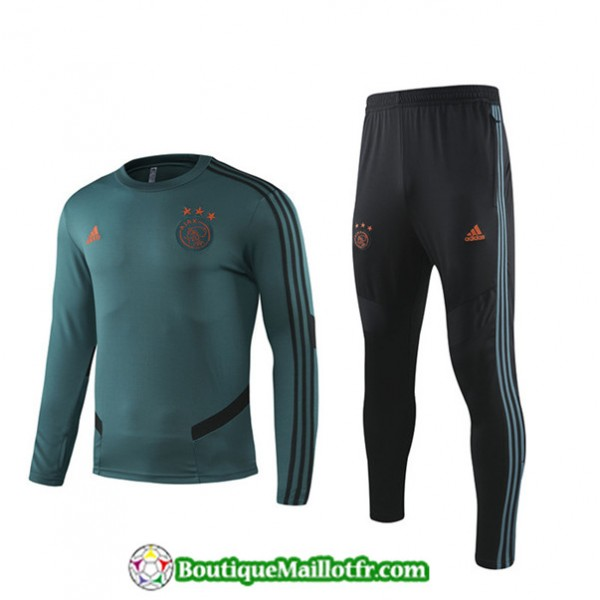 Survetement Afc Ajax 2019 2020 Ensemble Vert Noir�...