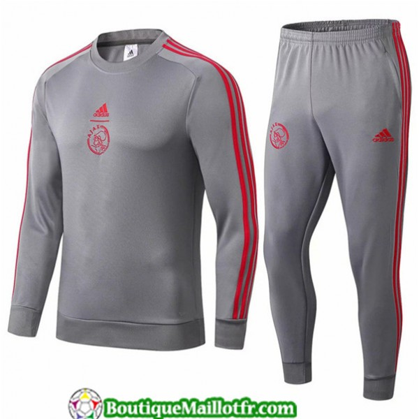Survetement Ajax 2019 2020 Ensemble Gris Fonce