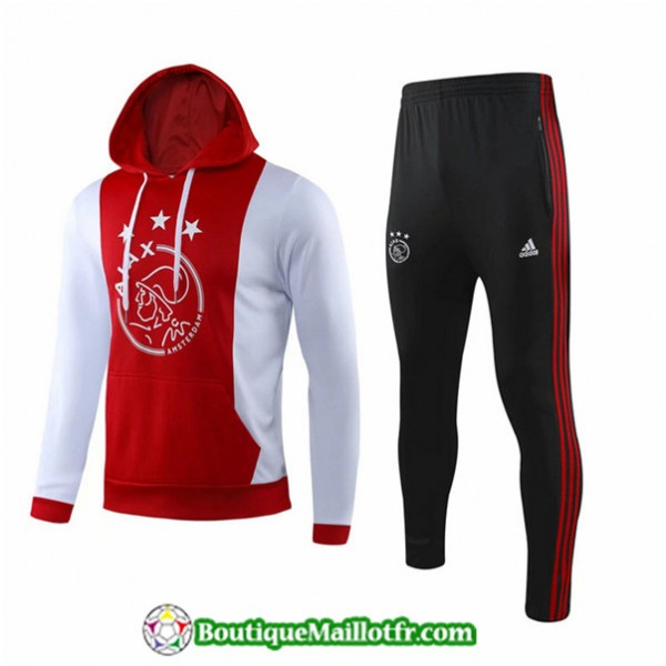 Survetement Ajax 2019 2020 Ensemble Rouge/blanc A ...