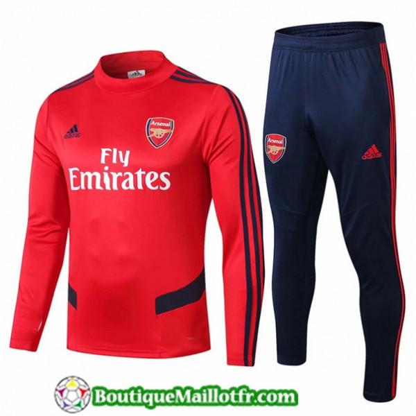 Survetement Arsenal 2019 2020 Ensemble Rouge/bleu