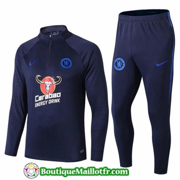 Survetement Chelsea 2019 2020 Ensemble Bleu Marine