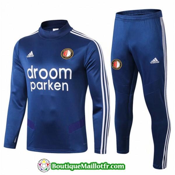 Survetement Feyenoord 2019 2020 Ensemble Bleu Mari...