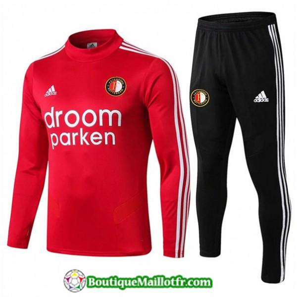 Survetement Feyenoord 2019 2020 Ensemble Rouge + S...