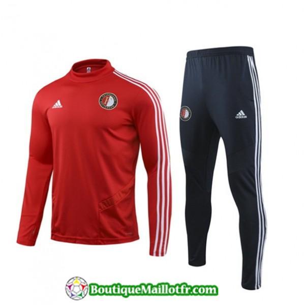 Survetement Feyenoord 2019 2020 Ensemble Rouge/noi...