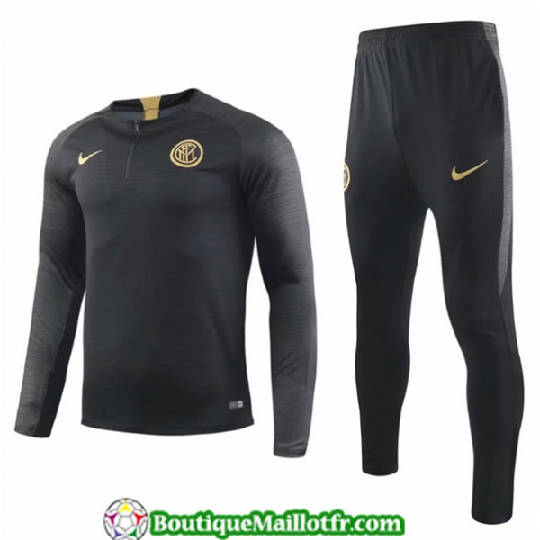 Survetement Inter Milan 2019 2020 Ensemble Noir