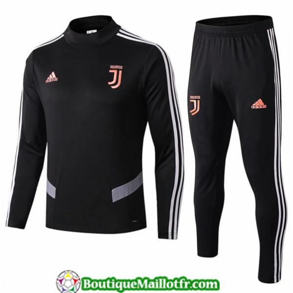 Survetement Juventus 2019 2020 Ensemble Noir/gris