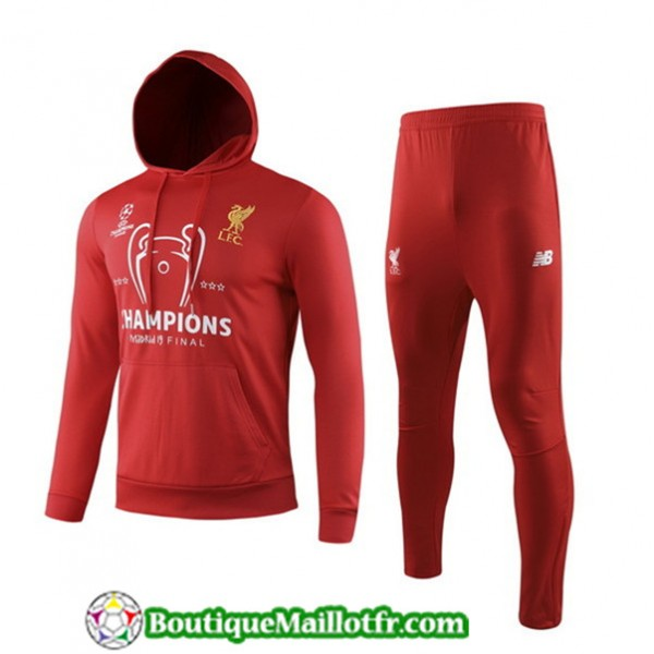 Survetement Liverpool 2019 2020 Rouge à Capuche