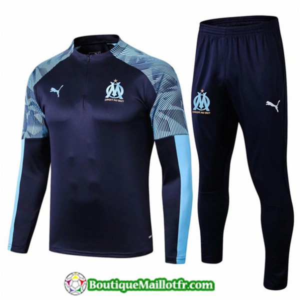 Survetement Marseille 2019 2020 Ensemble Bleu Mari...