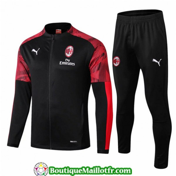 Veste Survetement Ac Milan 2019 2020 Ensemble Noir