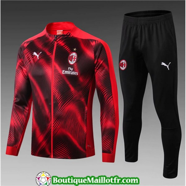 Veste Survetement Ac Milan Enfant 2019 2020 Ensemb...