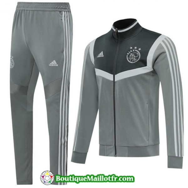 Veste Survetement Afc Ajax 2019 2020 Ensemble Gris