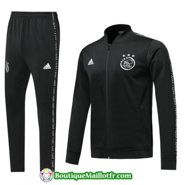 Veste Survetement Ajax 2019 2020 Ensemble Noir