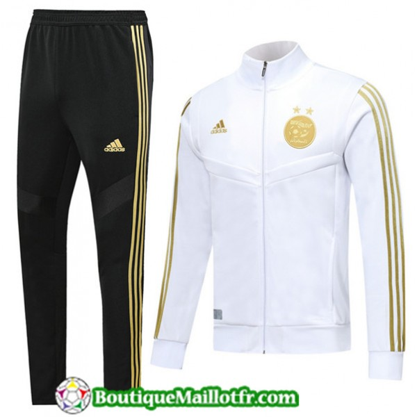 Veste Survetement Algerie 2019 2020 Ensemble Blanc...