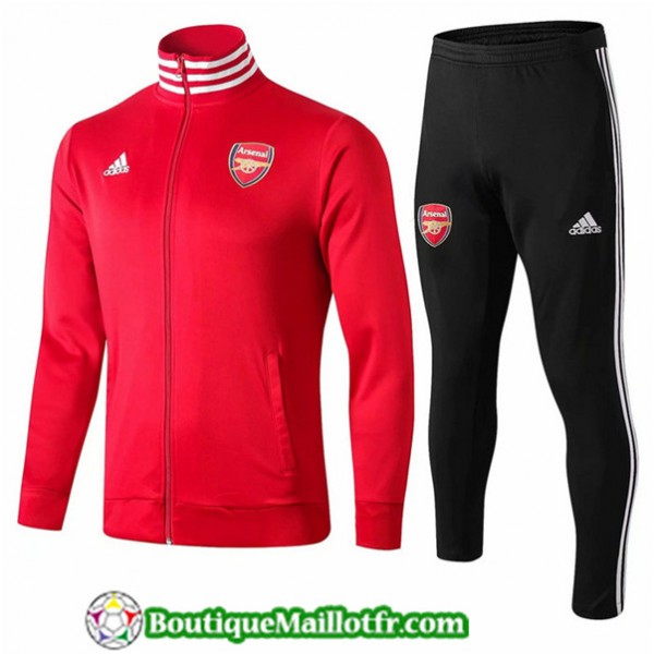 Veste Survetement Arsenal 2019 2020 Ensemble Rouge