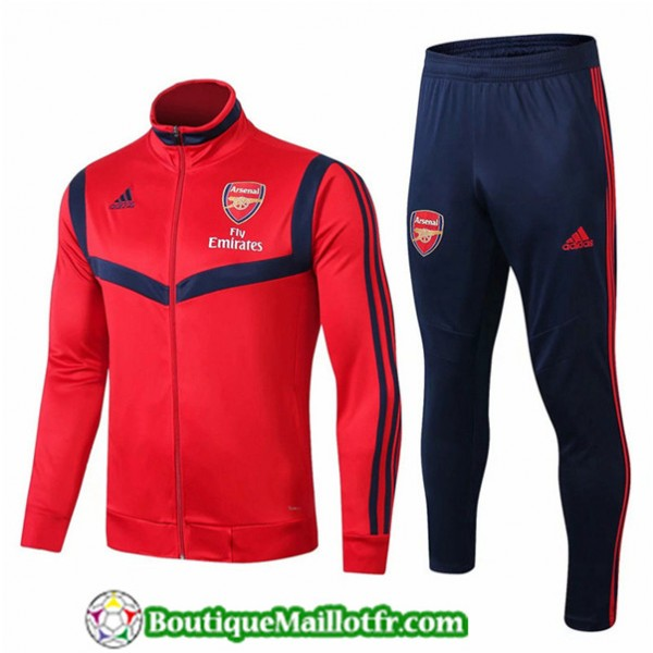 Veste Survetement Arsenal 2019 2020 Ensemble Rouge...