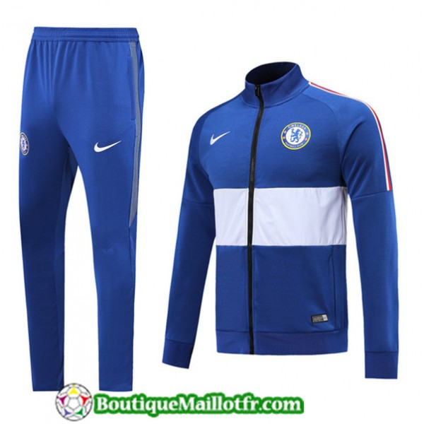Veste Survetement Chelsea 2019 2020 Ensemble Bleu/...