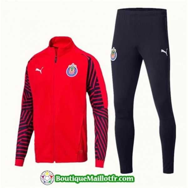 Veste Survetement Chivas 2019 2020 Ensemble Rouge