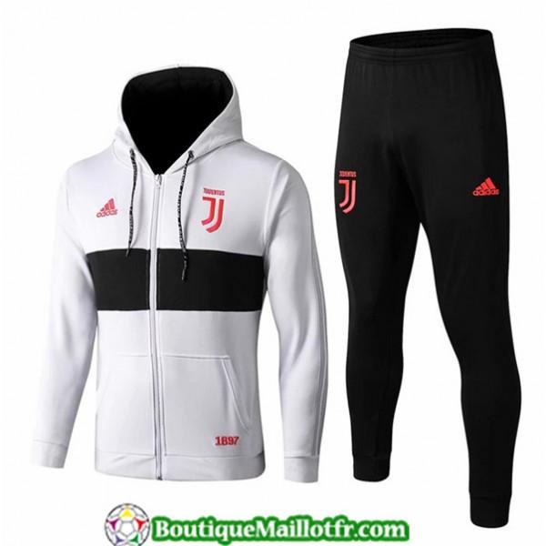 Veste Survetement Juventus 2019 2020 Ensemble Blan...