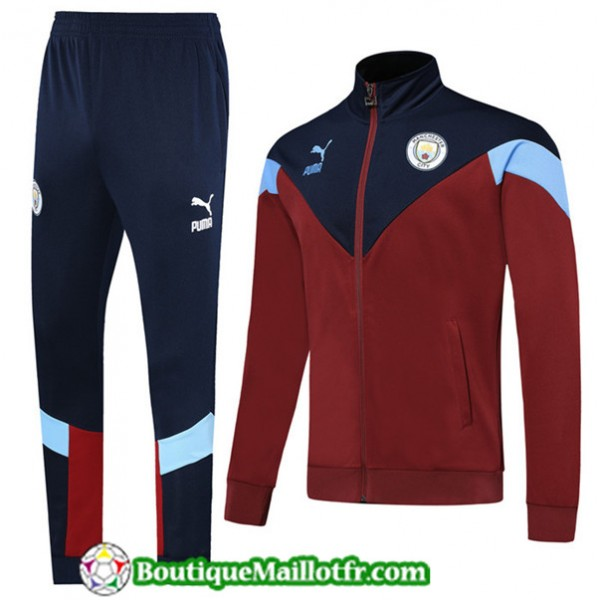 Veste Survetement Manchester City 2019 2020 Ensemb...