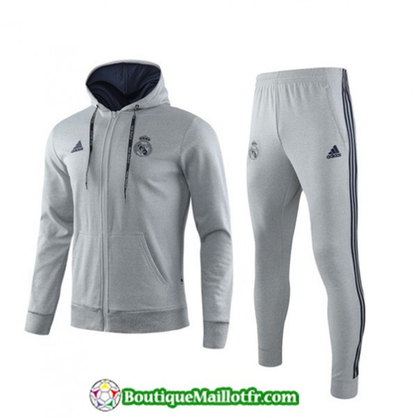 Veste Survetement Real Madrid 2019 2020 Ensemble B...