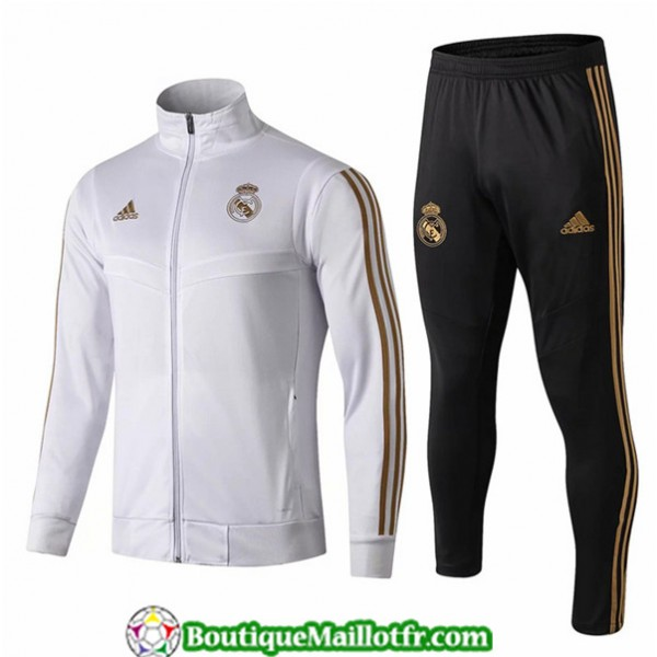 Veste Survetement Real Madrid Enfant 2019 2020 Ens...