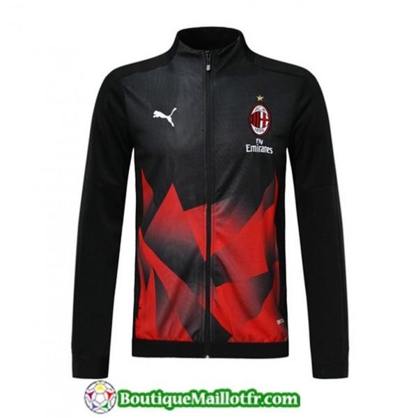 Veste De Foot Ac Milan 2019 2020 Noir/rouge