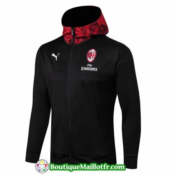 Veste De Foot Ac Milan 2019 2020 Rouge à Capuche ...