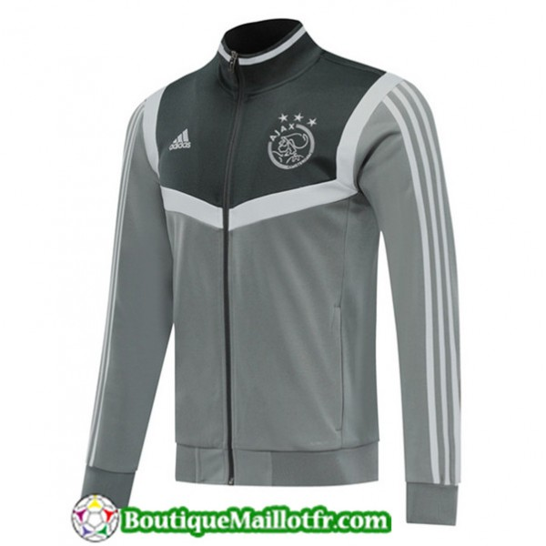 Veste De Foot Ajax 2019 2020 Gris