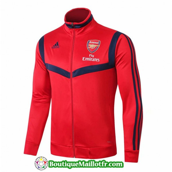 Veste De Foot Arsenal 2019 2020 Rouge/bleu