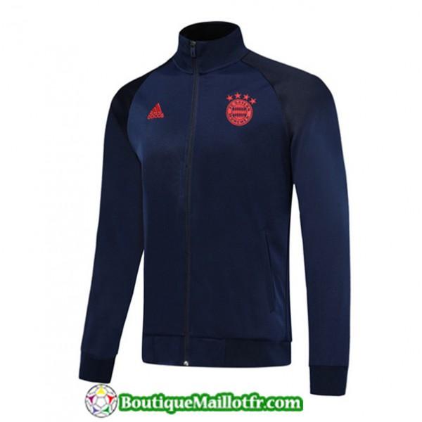 Veste De Foot Bayern Munich 2019 2020 Bleu Marine/...