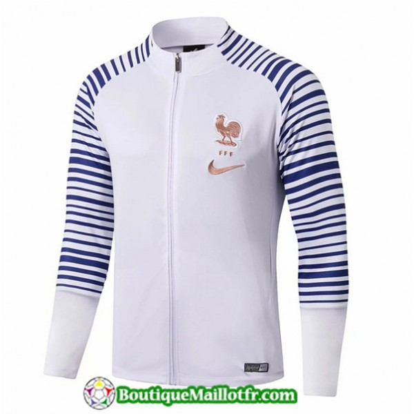 Veste De Foot France 2019 2020 Blanc/bleu