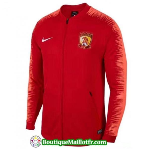 Veste De Foot Guangzhou Chine 2019 2020 Rouge