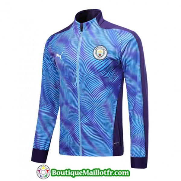Veste De Foot Manchester City 2019 2020 Violet/ble...