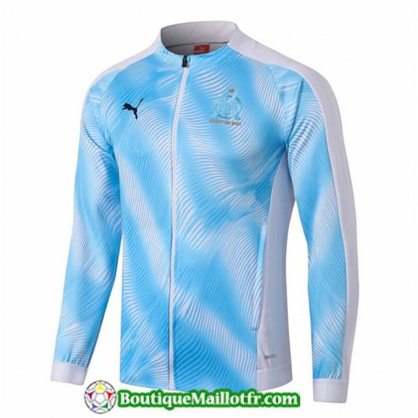 Veste De Foot Marseille 2019 2020 Bleu Ciel