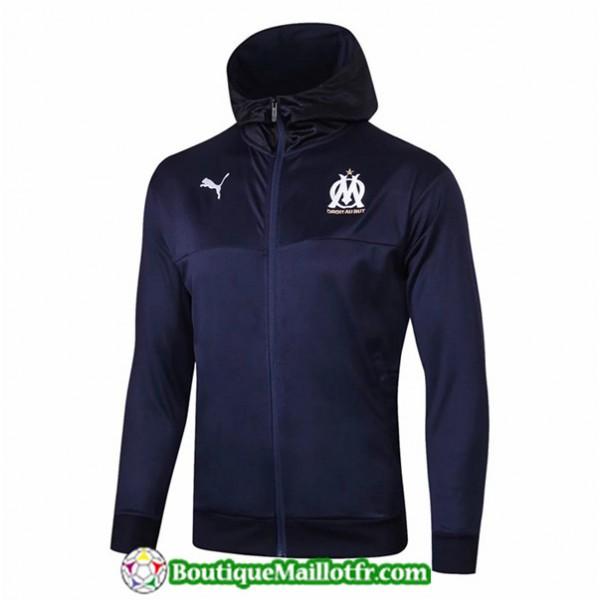 Veste De Foot Marseille 2019 2020 Bleu Marine à C...