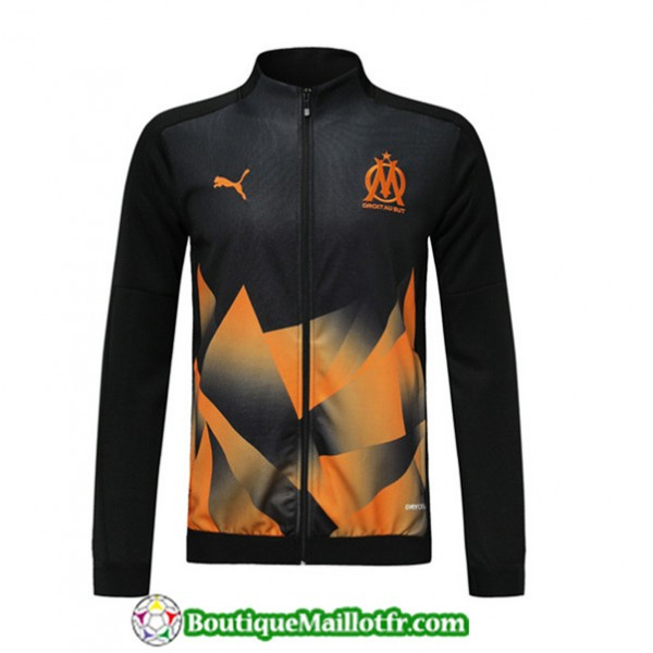 Veste De Foot Marseille 2019 2020 Noir/orange