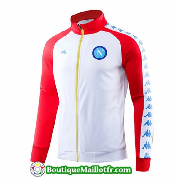 Veste De Foot Naples 2019 2020 Blanc/rouge