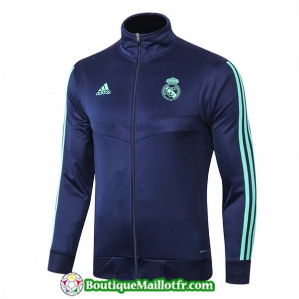 Veste De Foot Real Madrid 2019 2020 Bleu Marine