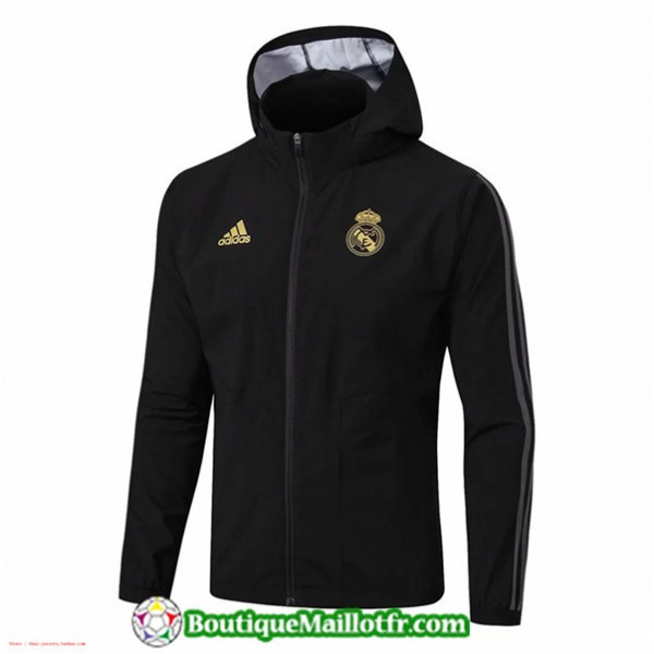 Veste De Foot Real Madrid 2019 2020 Coupe Vent Noi...