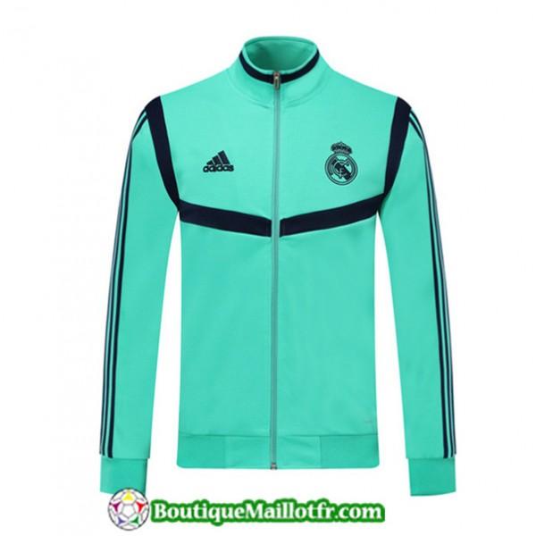 Veste De Foot Real Madrid 2019 2020 Vert/bleu