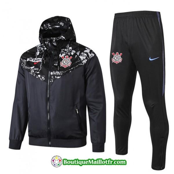 Coupe Vent à Capuche Corinthiens 2019 2020 Ensemb...