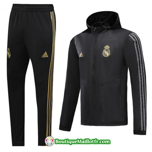 Coupe Vent à Capuche Real Madrid 2019 2020 Ensemb...