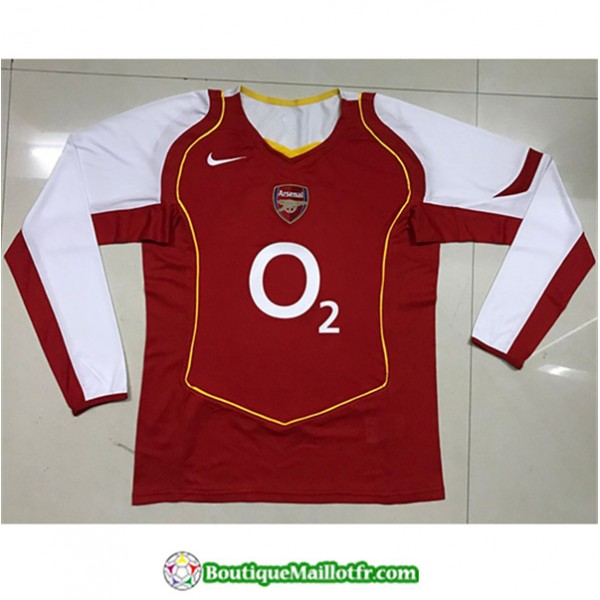Maillot Retro Arsenal 2004 05 Domicile Manche Long...