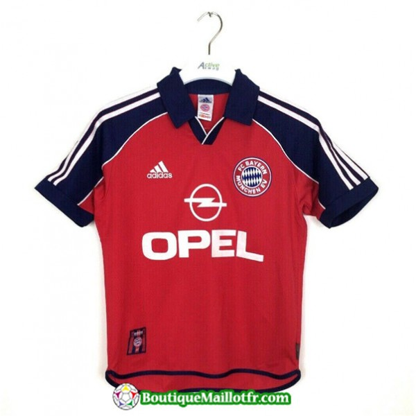 Maillot Retro Bayern Munich 2000 01 Domicile Champ...