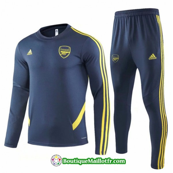 Survetement Arsenal 2019 2020 Ensemble Noir/jaune ...